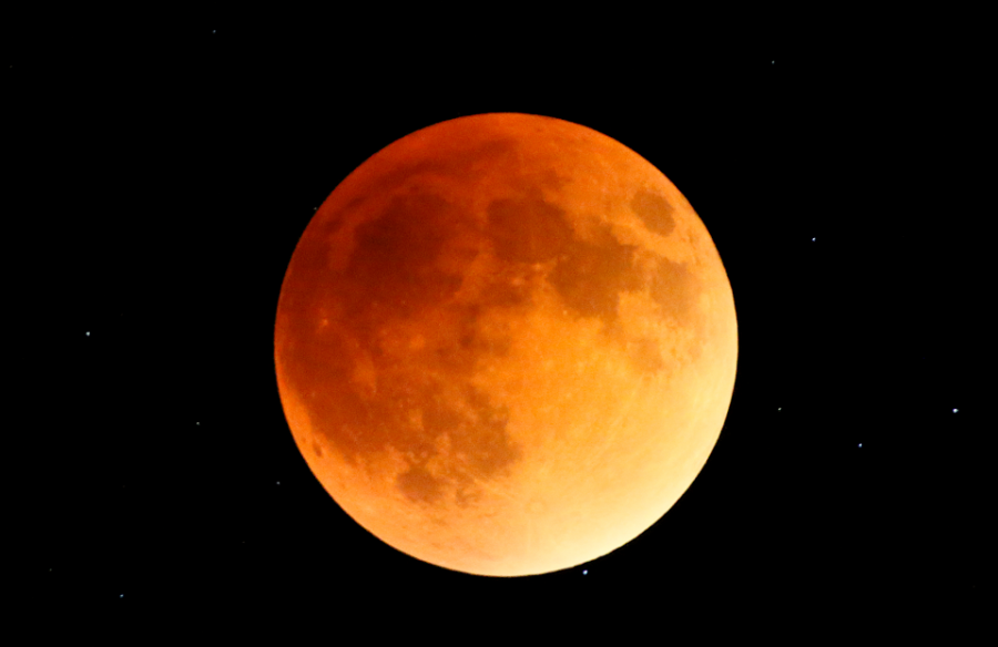 A blood moon eclipse.