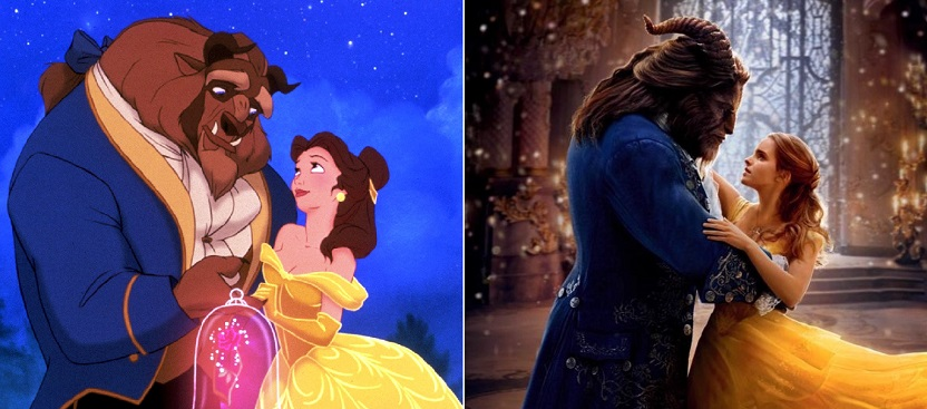 Animated+vs%2C+live+action+Beauty+and+the+Beast.+
