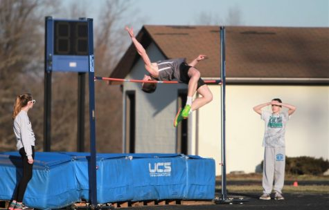 William Sawyer came in first place for the boys high jump with a jump of six feet.