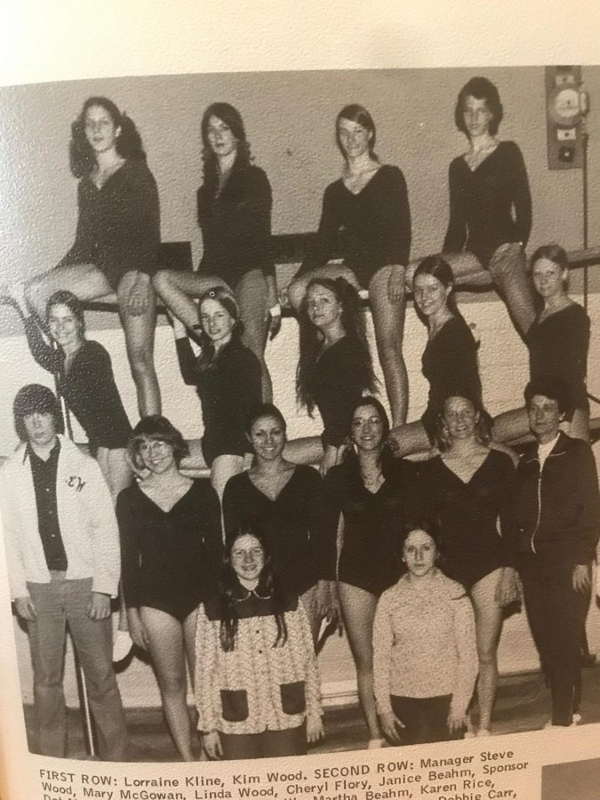 Brentsville District Tigers 1974 gymnastics team.