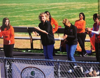The 2011 BDHS step-team performing at a football game.