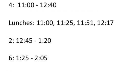 October 16 Schedule