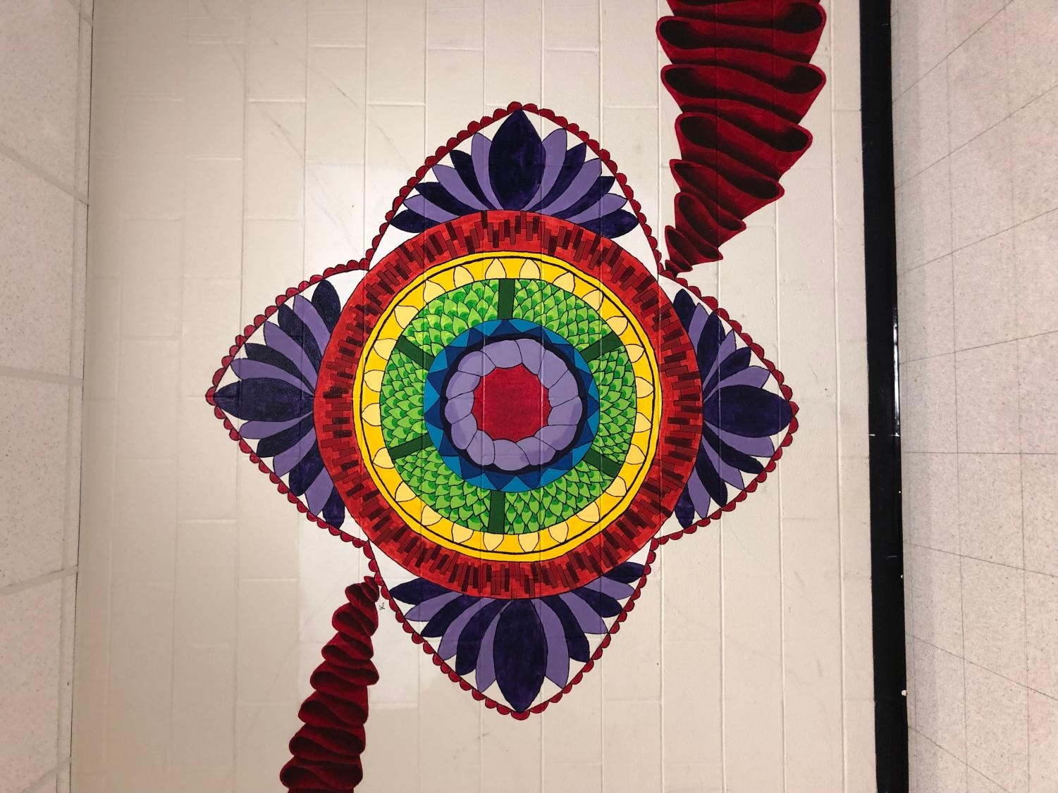 This mural is located in the art hallway, and is one of the largest in the school.
