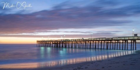 Sandbrige pier at dawn by Mike O