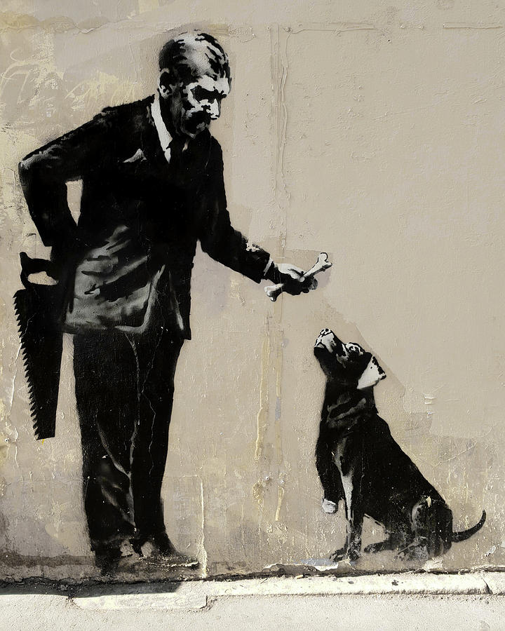 Anonymous+Painting+From+Artist+Banksy+On+England+Street