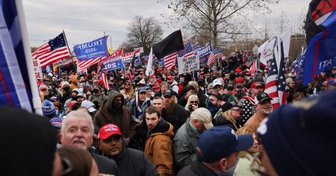 A crowd gathers outside the U.S. Capitol on Wednesday in Washington, D.C. (Spencer Platt/Getty Images)