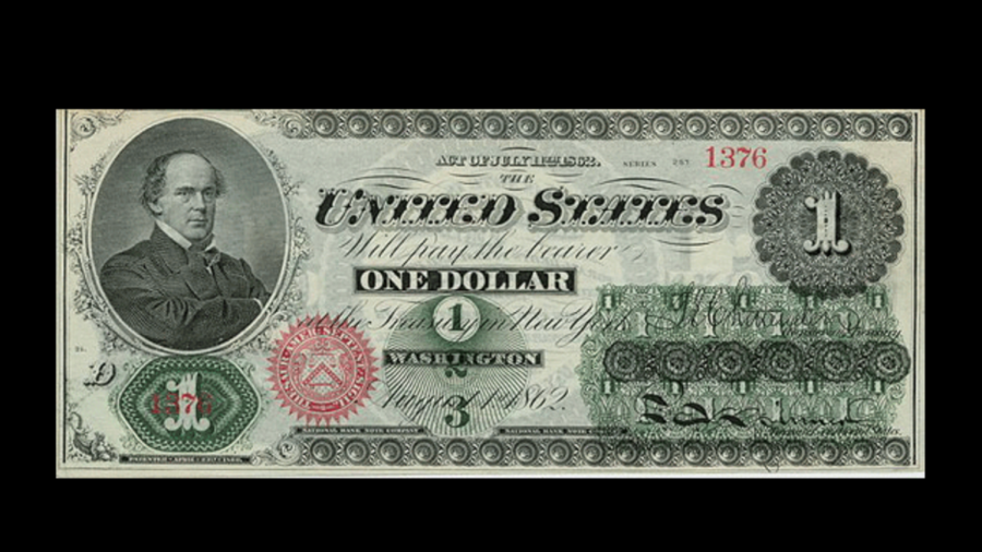 The Original face on the $1 Bill